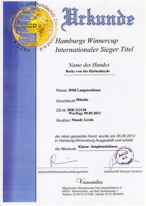urkunde-hamburg-winnercup-becky-1-platz-2013-05-26