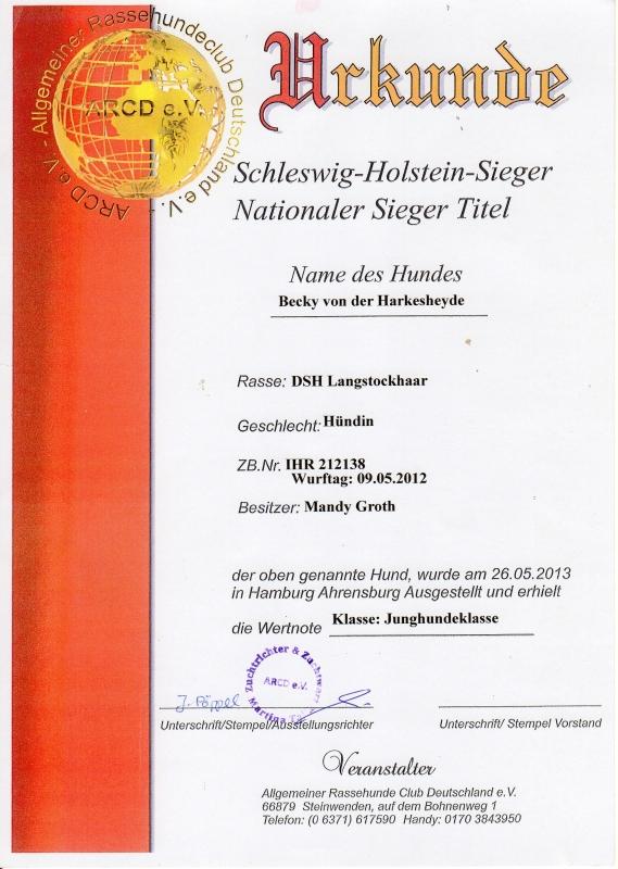 urkunde-schleswig-holstein-sieger-becky-1-platz-2013-05-26